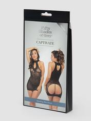 Fifty Shades of Grey Captivate Black Lace Spanking Mini Dress, Black, hi-res