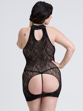 Fifty Shades of Grey Captivate Plus Size Black Lace Spanking Mini Dress
