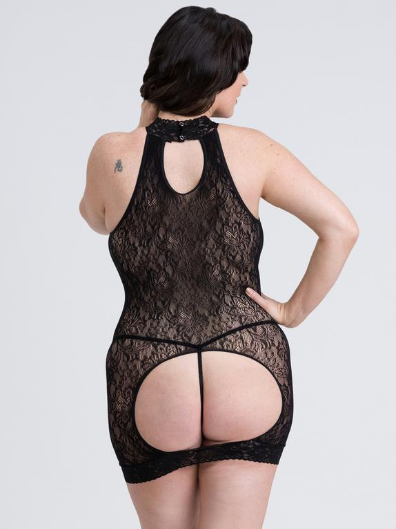 Fifty Shades of Grey Captivate Black Lace Spanking Mini Dress, Black, hi-res