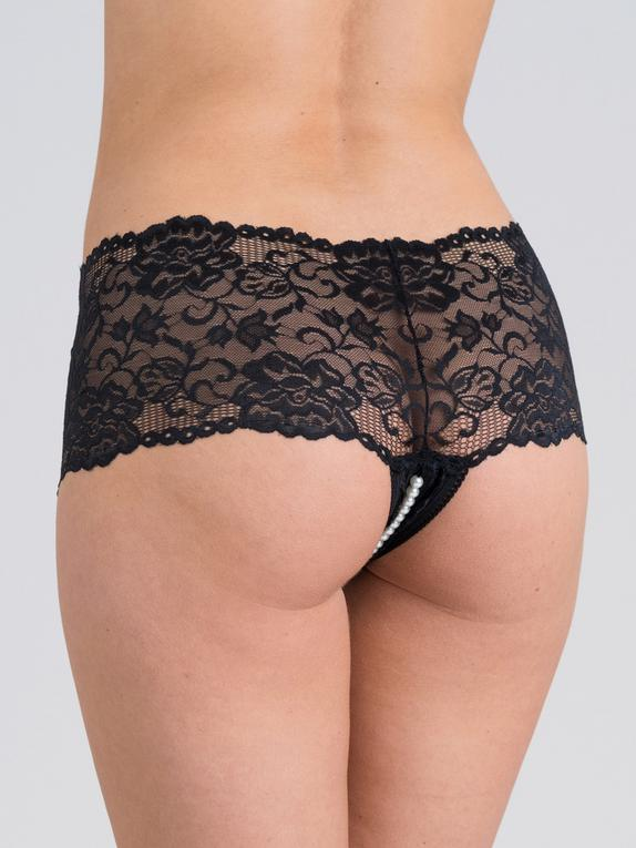 Fifty Shades of Grey Captivate Lace Pearl Shorts, Black, hi-res
