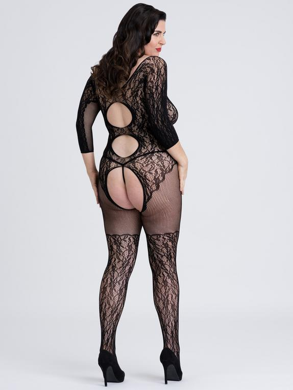 Fifty Shades of Grey Captivate Lace Spanking Bodystocking, Black, hi-res
