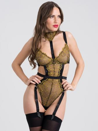 Fifty Shades of Grey Captivate Black and Gold Teddy