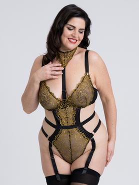 Fifty Shades of Grey Captivate Plus Size Black and Gold Body