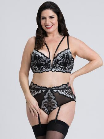 Fifty Shades of Grey Captivate Plus Size Black and Silver Bra Set