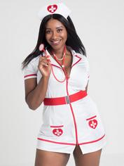 Lovehoney Fantasy Flirty Nurse Costume , White, hi-res