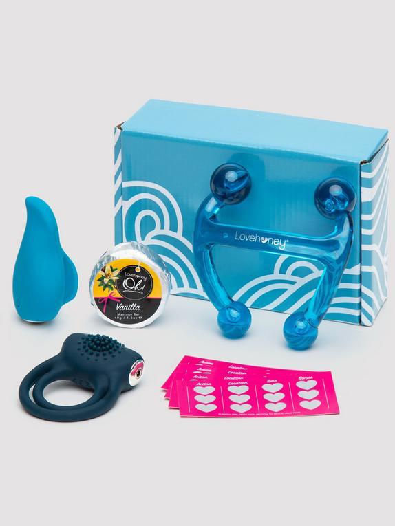 Ready, Set, Oh! Couple's Vibrator Gift Set (5 Piece), Black, hi-res