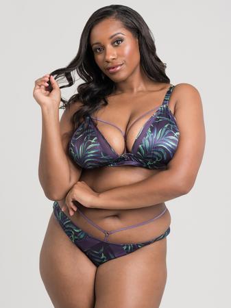 Lovehoney Plus Size Paradise Lust Purple Strappy Bra Set