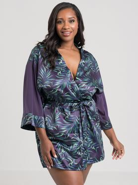 Lovehoney Plus Size Paradise Lust Purple Robe