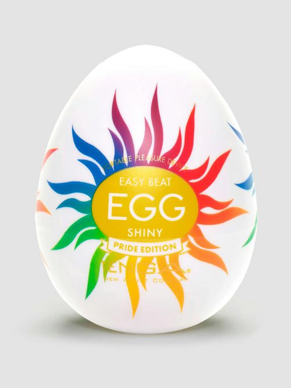 TENGA Egg Shiny Pride Edition Textured Male Masturbator, Clear, hi-res