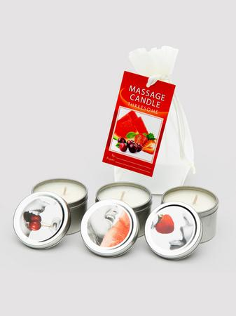 Earthly Body Lickable Massage Candle Set (3 x 2 oz)