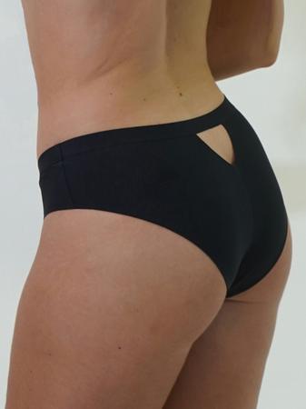 JoJoe Black Recycled Microfibre Keyhole Back Shorts