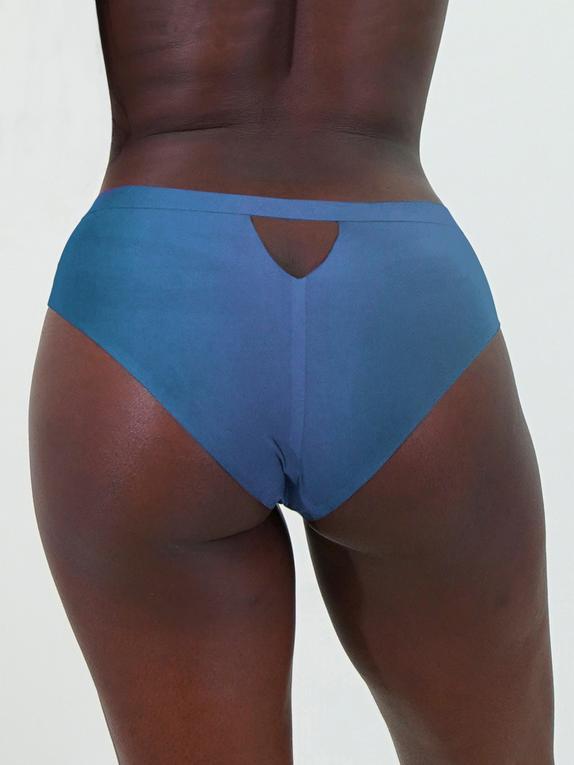 JoJoe Black Recycled Microfibre Keyhole Back Shorts , Blue, hi-res
