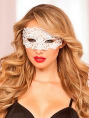 Seven 'til Midnight White Lace Eye Mask, White, hi-res