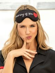 Mapale Black Dreaming of You Reversible Eye Mask, Black, hi-res