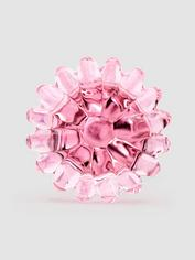 Lovehoney Medium Daisy Sensual Glass Butt Plug 3 Inch, Pink, hi-res