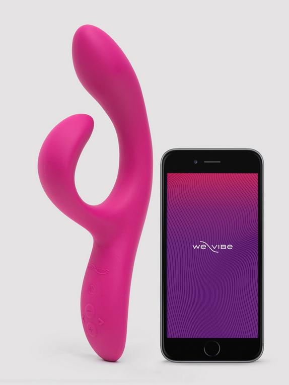 We-Vibe Nova 2 Rechargeable App Controlled Rabbit Vibrator, Pink, hi-res