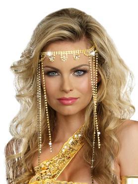 Dreamgirl Golden Goddess Diamante Headpiece