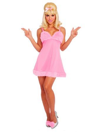Dreamgirl Pink Femme Fatale Faux Fur Costume