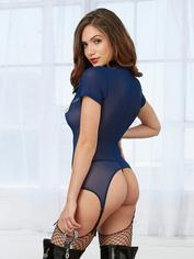 Dreamgirl Blue Lieutenant Lusty Sexy Cop Costume 	, Blue, hi-res