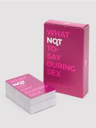 What Not To Say During Sex Cards