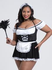 Lovehoney Fantasy French Fancy Maid Costume, Black, hi-res