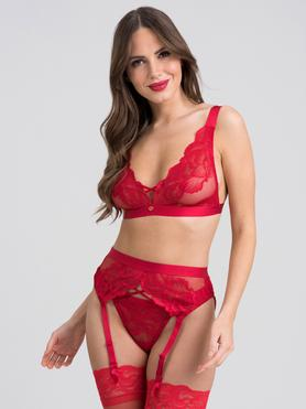 Lovehoney Beau Red Lace Bra Set