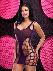 Lapdance Purple Cut-Out Mini Dress, Purple, hi-res