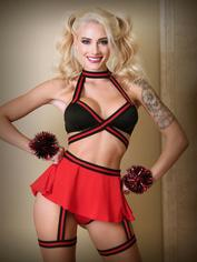 Fantasy Squad Goals Sexy Cheerleader Costume, Red, hi-res