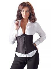 Cottelli Black Underbust Corset, Black, hi-res