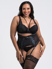 Lovehoney Dark Enchantment Black Lace Bra Set, Black, hi-res