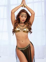 Dreamgirl Gold Belly Dancer Costume, Gold, hi-res
