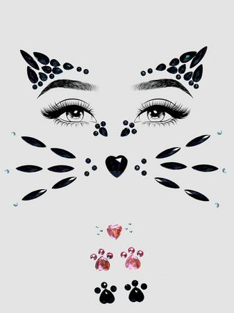 Leg Avenue Cat Self-Adhesive Face Jewels