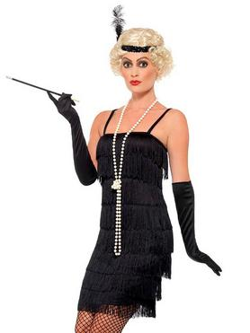 Fever Black Fringed Flapper Costume