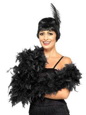 Fever Black Feather Boa