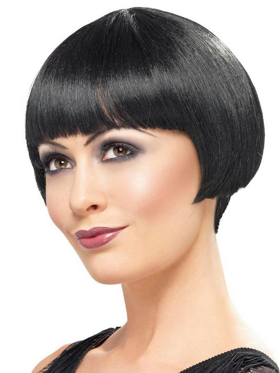 Fever Black Bob Wig, Black, hi-res