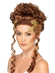 Fever Gold Laurel Leaf Headdress, Gold, hi-res