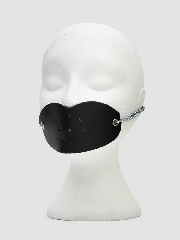 DOMINIX Deluxe Leather Lips Gag, Black, hi-res