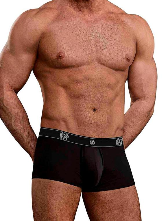 Male Power Black Bamboo Boxer Shorts, Black, hi-res