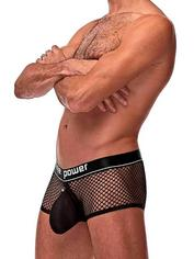 Male Power Black Cock Pit Mesh Boxer Shorts, Black, hi-res