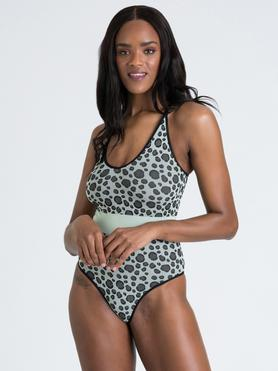 Body sin costuras con estampado de leopardo menta Mindful de Lovehoney