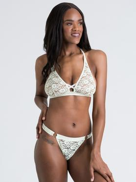 Lovehoney Mindful Mint Green Lace Bra Set