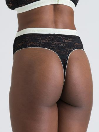 Lovehoney Mindful Black Lace Thong