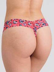 Lovehoney Peachy Keen Lace Thong Set (3 Count), Blue, hi-res