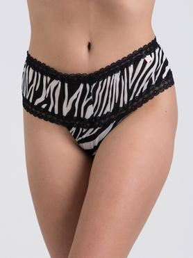 Lovehoney Flirty Animal Attraction Shorts mit Zebra-Print