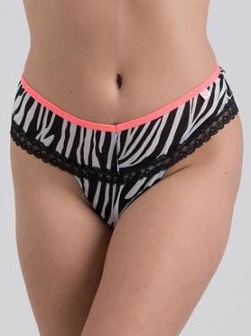 Lovehoney Flirty Animal Attraction String mit Zebra-Print