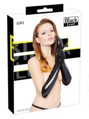 Black Level Elbow-Length Vinyl Gloves, Black, hi-res