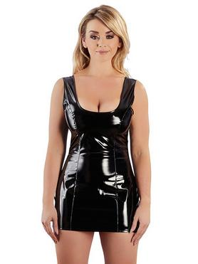 Black Level Vinyl Mini Dress