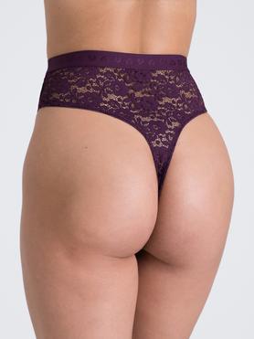 Lovehoney Mindful Plum Lace Thong