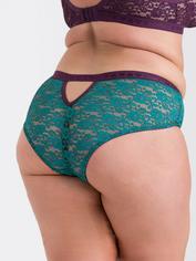 Lovehoney Mindful Mint Green Lace Shorts, Blue, hi-res