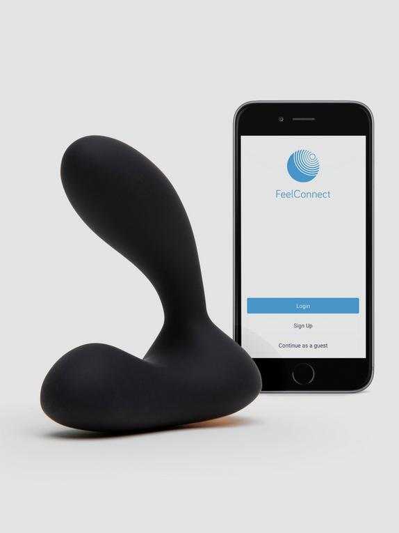 Svakom Vick Neo Interactive App Controlled Rechargeable Prostate Massager, Black, hi-res